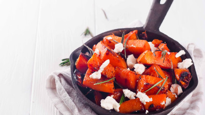 Maple Roasted Pumpkin with Chilli and Feta