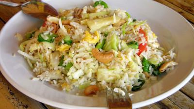 Oven-baked Thai chicken rice