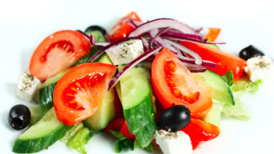 Bulgarian salad with feta