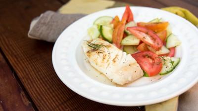 Grilled Halibut and Fresh Mango Salsa