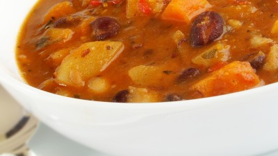 Goulash soup with minced meat