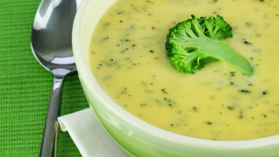 Broccoli, Lemon, and Parmesan Soup
