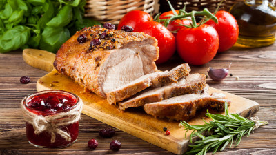 Cherry-Port Glazed Pork Loin Roast