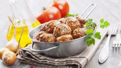 Duck Meatballs with Cherry Sauce