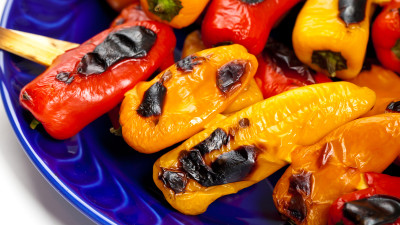 Mozzarella Stuffed Sweet Mini Peppers