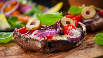 Mediterranean-Style Stuffed Portobello Mushroom