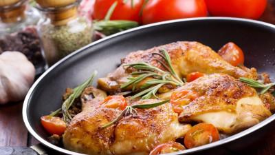 Skillet Chicken with Escarole and Pecorino