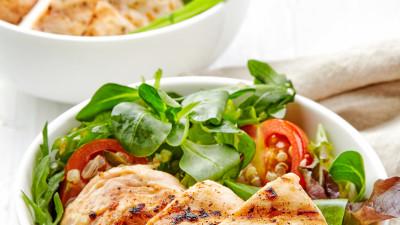 Grilled chicken veggie bowls