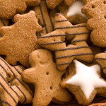 Spice cookies as christmas background