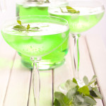 Mint spritzer in glasses, selective focus