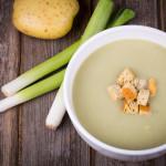 Potato soup with leek