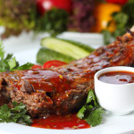 Spicy Maple-Glazed Lamb Chops with Wilted Spinach