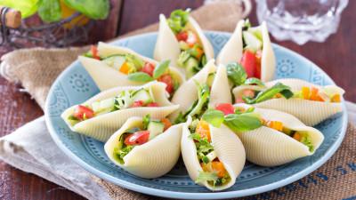 Italian Chopped Salad in Shells