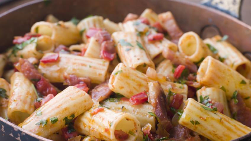 Chilli Rigatoni with Spicy Salami