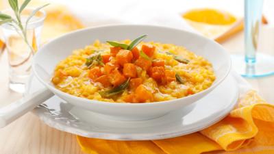 Simple squash risotto