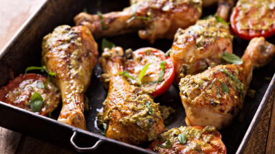 Chicken with Walnut Pesto