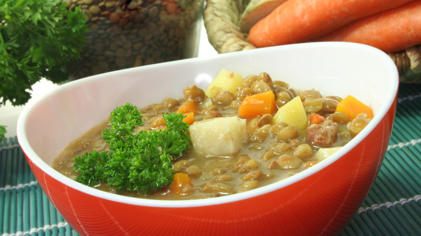 Spicy Root & Lentil Casserole