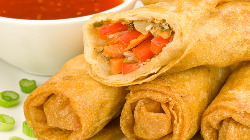 Spring rolls in rice paper