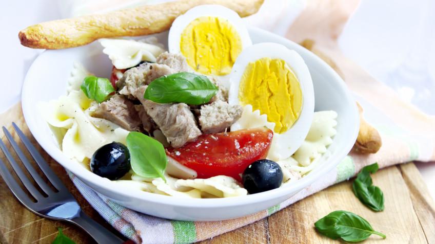 Pasta salad with tuna