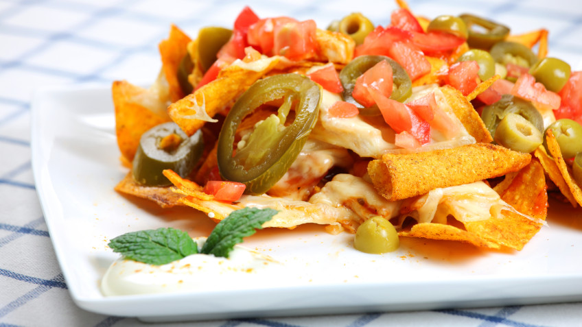 Grilled Chicken Nachos