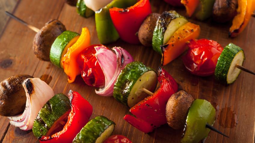 Roasted Veggie Skewers (Vegetable Kabobs)